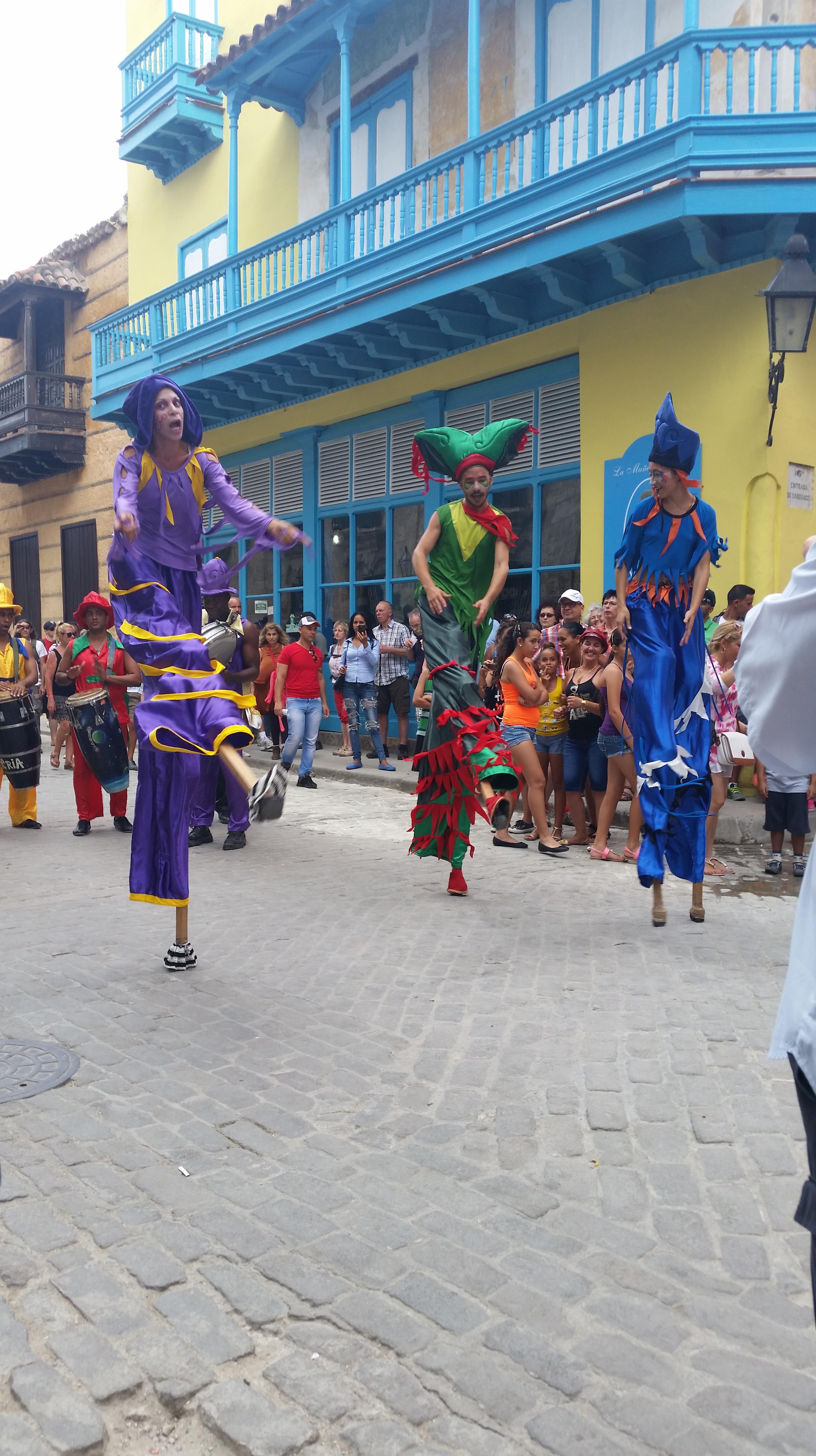 Cuban Street performance parade