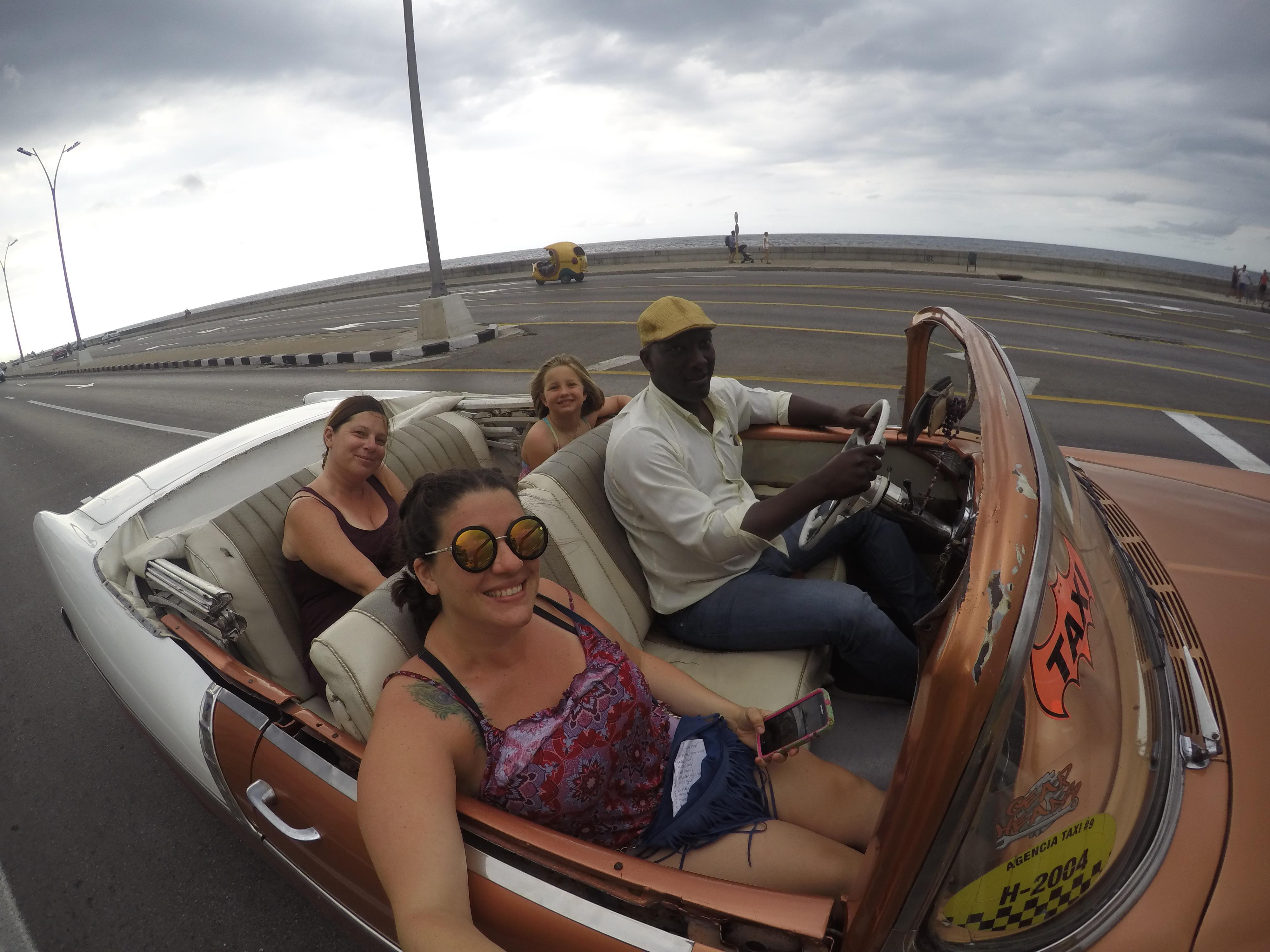 Cruising the Malecon Havana Cuba