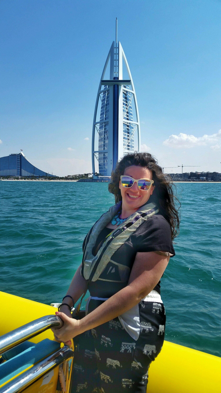 Yellow Boat Tour passing by Burj Al Arab, Dubai