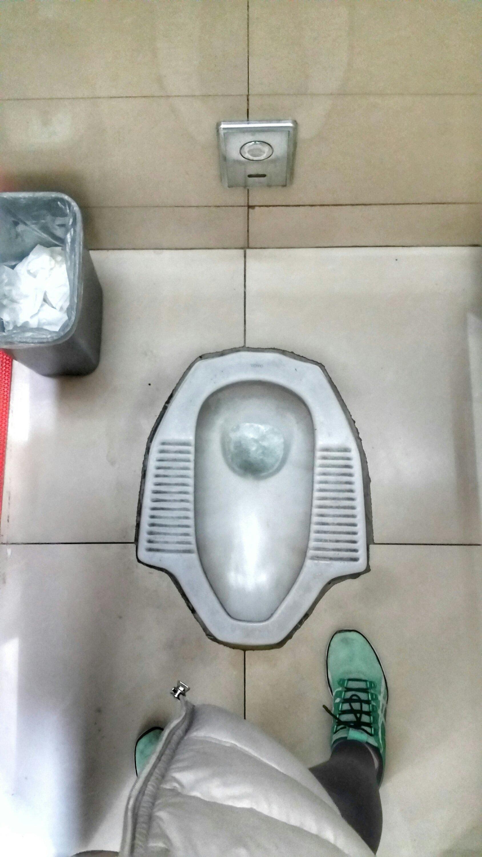Squat Toilet at Beijing Train Station China