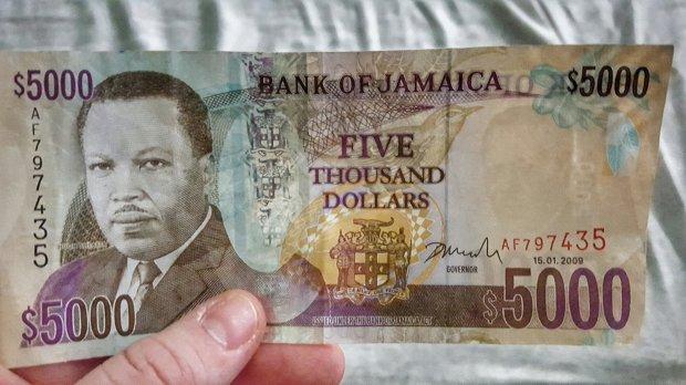 $5000 Jamaican Dollars