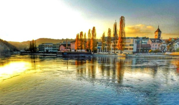 Zurich side of the Rhine River