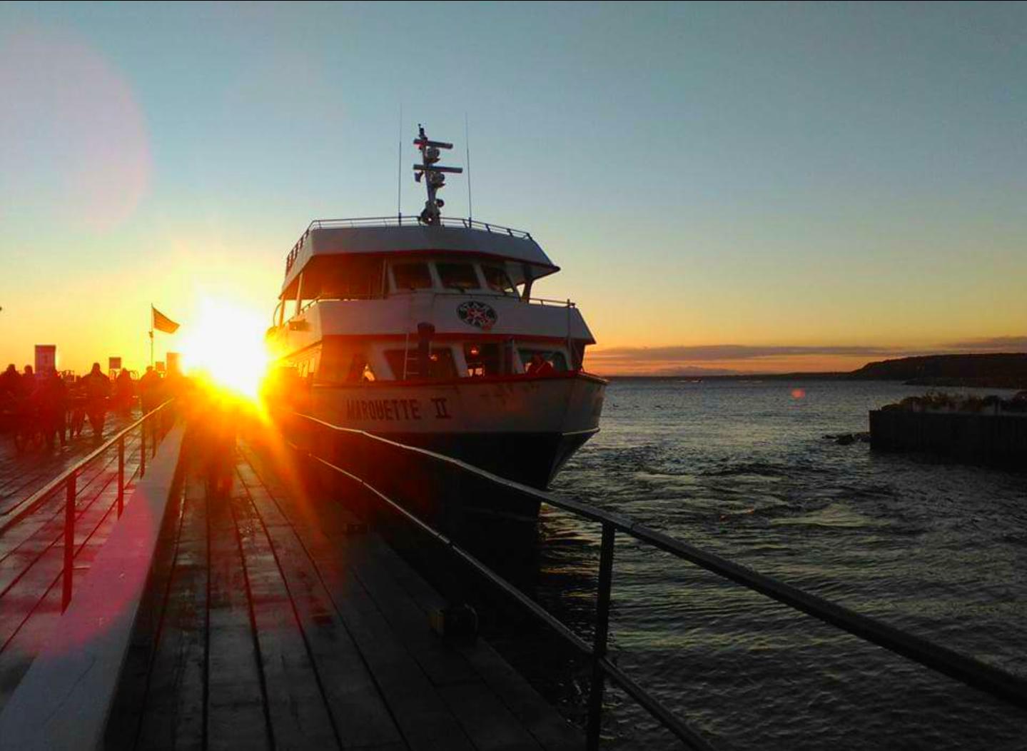 Morning ferry on Mackinac Island